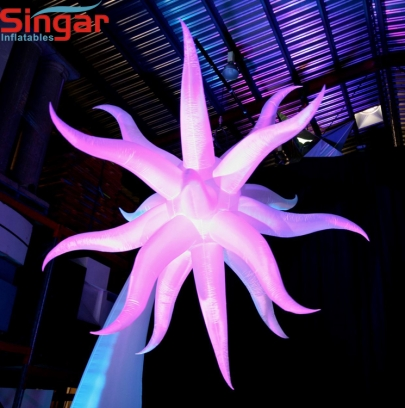 Beautiful inflatable lighting party ceiling hanging stars