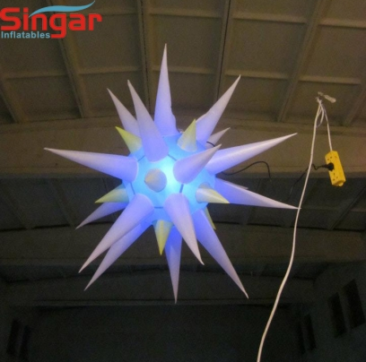 Lighting inflatable event/party decoration stars