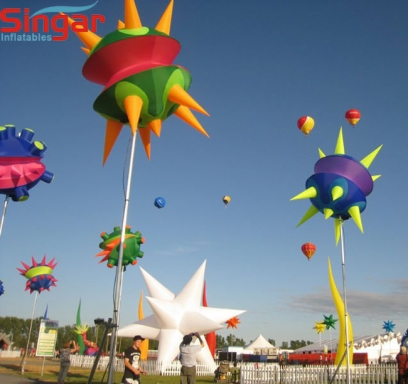 Giant outdoor events inflatable decoration stars with lightings