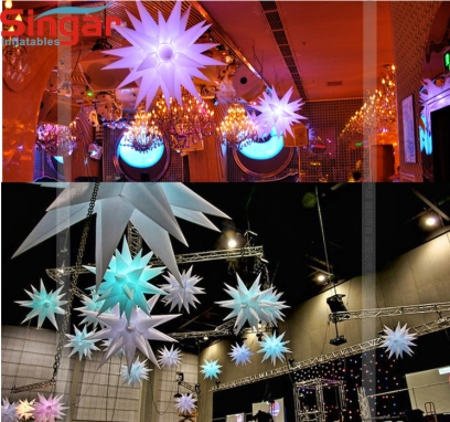32 points inflatable lighting party stars