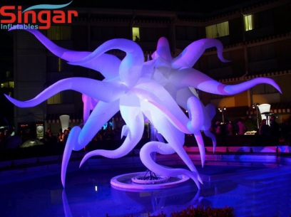 Event decorative inflatable stage stars for night parties