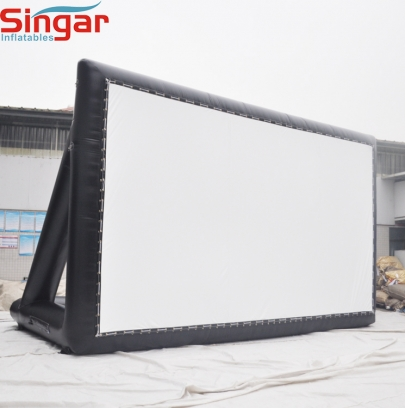 Inflatable drive-in outdoor movie screen