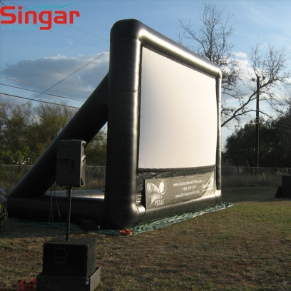 Giant mobile outdoor inflatable  cinema screen with removable screen