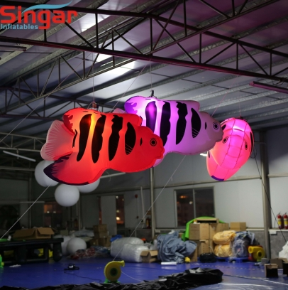 2m(8.2ft) inflatable lighting tropical fishes