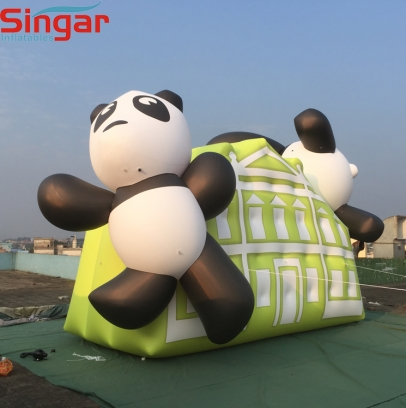 4.5m(15ft) inflatable helium fly panda balloon