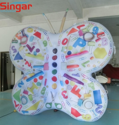 3m inflatable PVC airtight advertising butterfly balloon