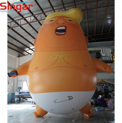 6m(20ft)Giant inflatable helium trump baby balloon