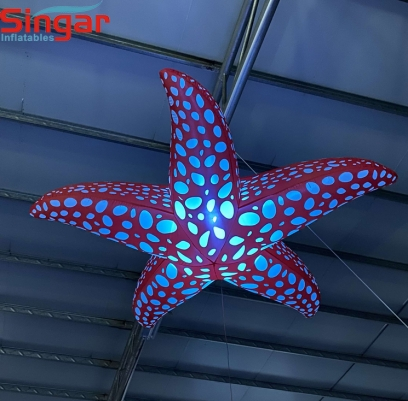 2m(8.2ft) party decoration inflatable hanging lighting starfish