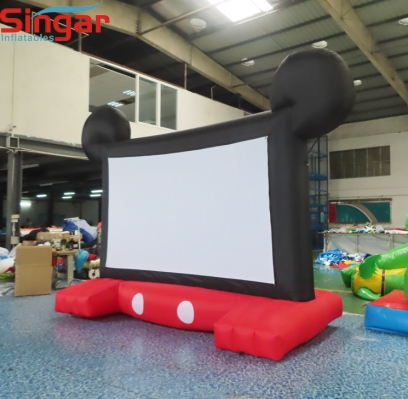 2.9m Minny inflatable yard family movie screen for rental