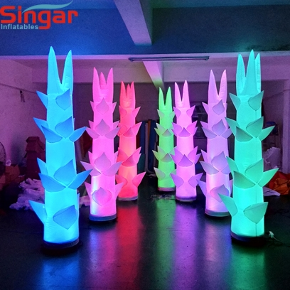 Cheap price inflatable LED lighting tusk for party decoration