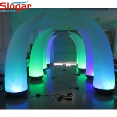 Party decoration inflatable lighting tusk