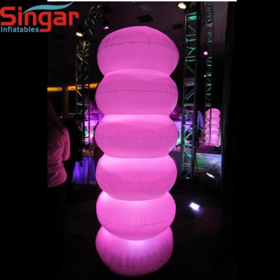 Custom inflatable lighting column for party decoration