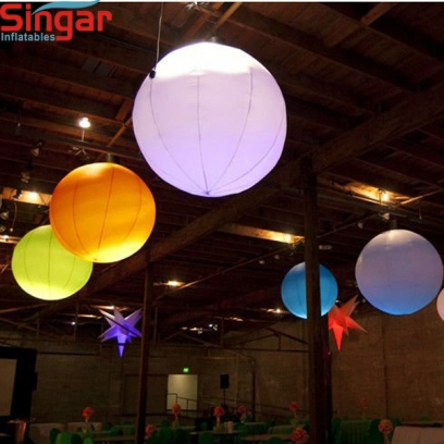Party decorative inflatable white lighting ball