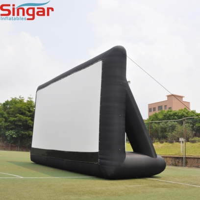 Giant 36ft oxford inflatable movie screen with back supports fast set up