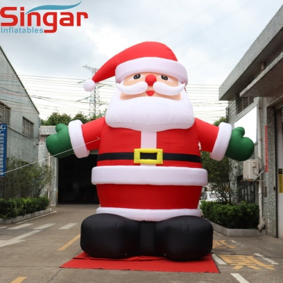 5m(16.4ft) Christmas inflatable santa claus with lights