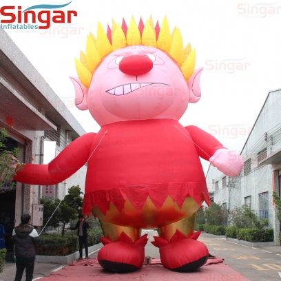 9m(29.5ft) Christmas decoration inflatable heat miser charactor