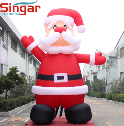 5m(16.4ft) gaint inflatable father christmas for advertising