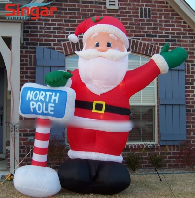 3m(9.8ft) inflatable north pole sant claus for yard decoration