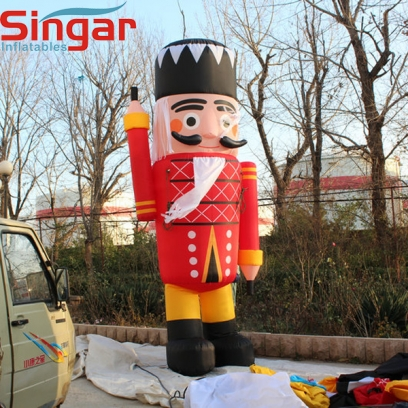 4m(13ft) inflatable soldier guard for christmas decoration