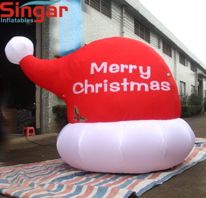2.5m(8.2ft) inflatable yard decoration christmas hat