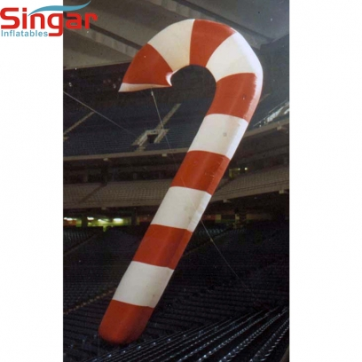 2.5m(8.2ft) inflatable hanging candy cane for christmas decoration