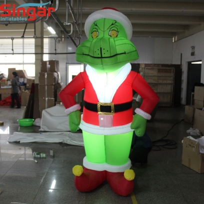 3m(9.8ft) inflatable giant grinch with lights for yard decoration