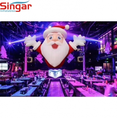 6m(19.7ft) Inflatable christmas party stage lighitng santa claus decoration