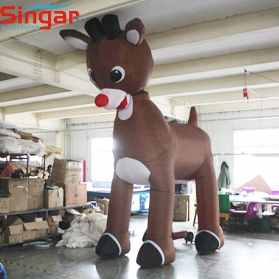 3m(9.8ft) inflatable giant reindeer for yard christmas decoration