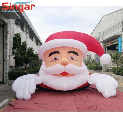 5m(16.4ft) New inflatable roof decroation father christmas