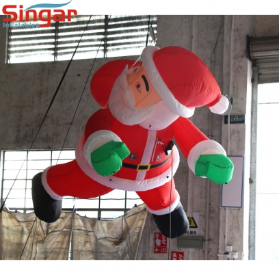 3m(9.8ft) inflatable climibing father christmas for christmas decroation