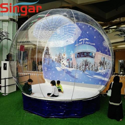 5m(16.4ft)  inflatable snow globe,inflatable christmas display window