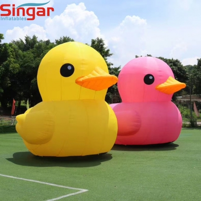 4m(13ft) inflatable giant pink and yellow decoration ducks